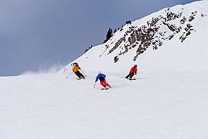 Lake Louise skiers