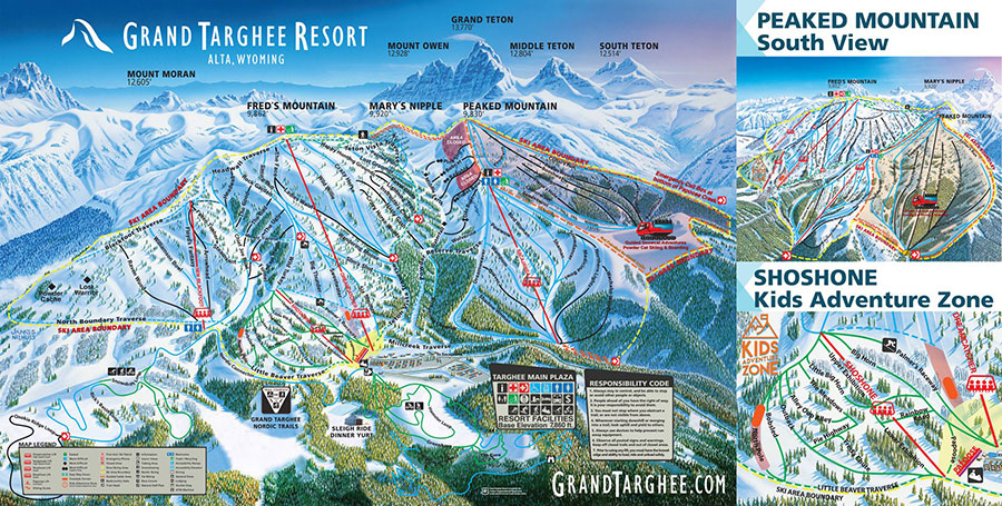 2017 Grand Targhee Resort Winter Trail Map