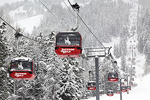 Gondolas in the Snow