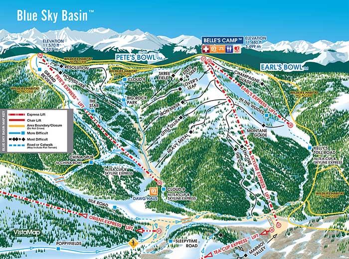 Blue Sky Basin Map