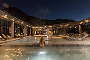 Cliff Lodge Spa at Night