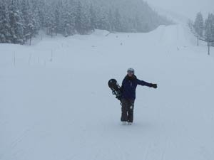 Boarder in Alyeska