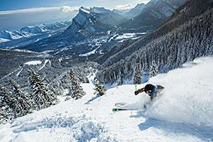 Norquay skier
