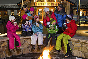 People Around a Fire in Vail