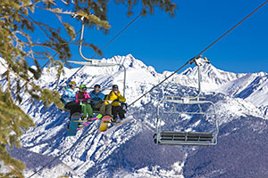 Vail Skiers on a Lift