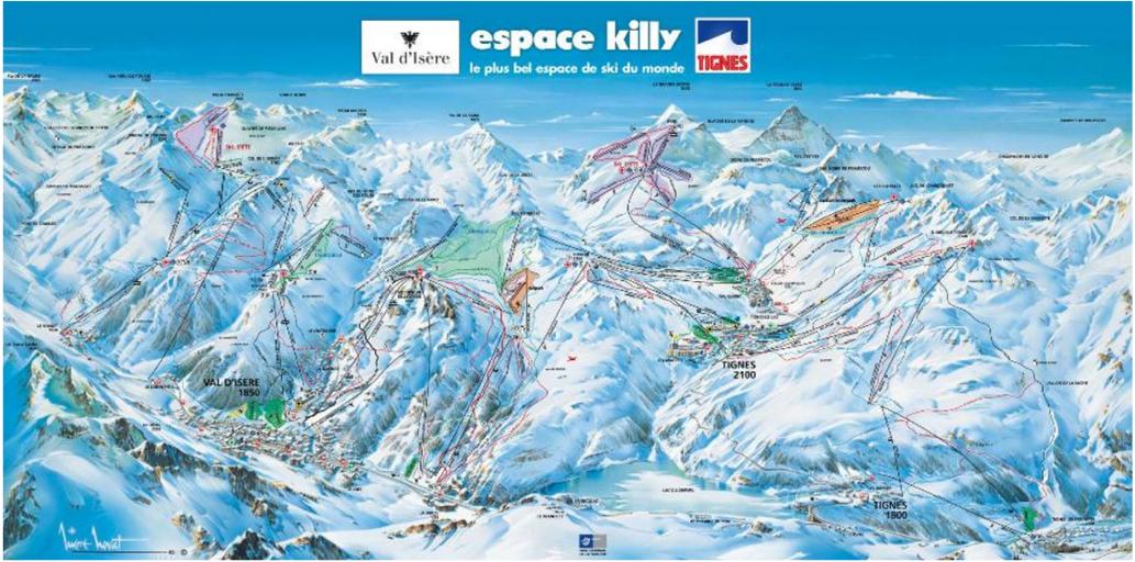 Espace Killy trailmap