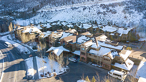 Lodges Aerial View