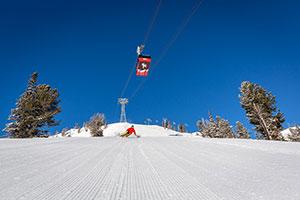 Jackson Hole Skier Under Tram