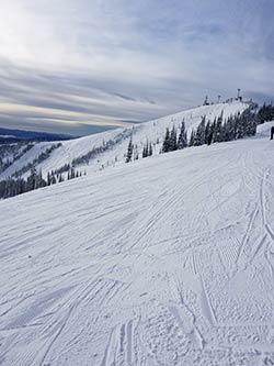 Ski Run Scene