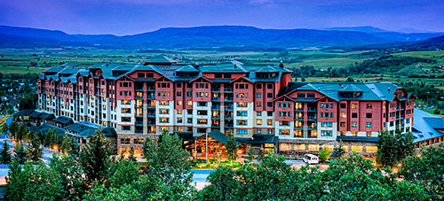 Steamboat Grand Hotel Evening Photo