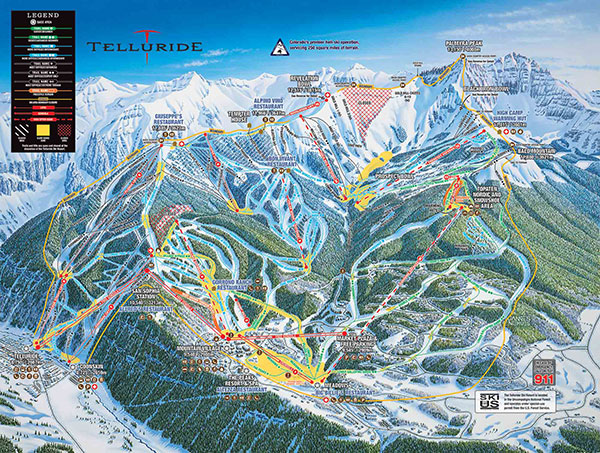 Trail Map Telluride