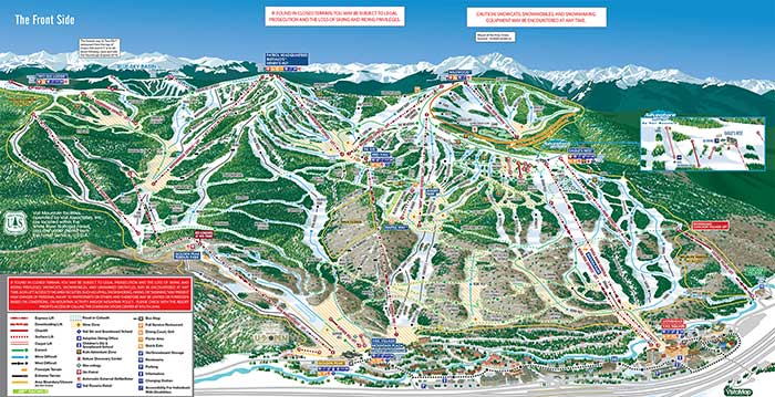 Vail Front Side Map