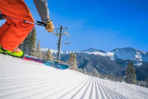 Skier on Groomed Run