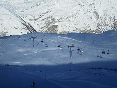 Zermatt Ski Slope Aerial