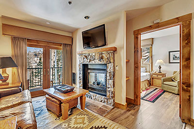 Mountain Lodge Condo Living Area