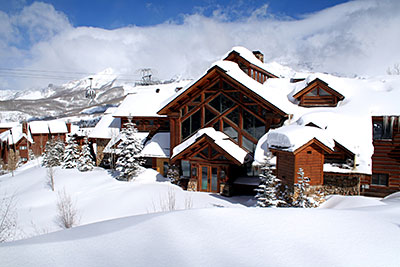 Mountain Lodge Winter Front