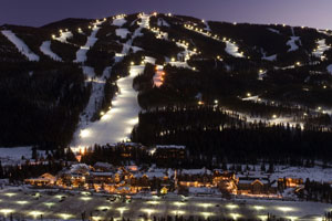 Keystone Aerial at Night