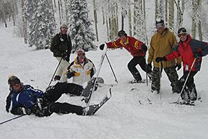 6 Guys Posing in the Snow