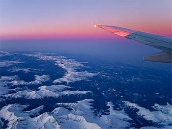 Mountain View Sunset Flight